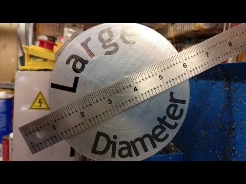 Size matters - Large diameter turning. facing. and boring on the mini lathe