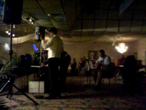 Jason Hogg sings Jake Owen Anything For You to his new wife at reception