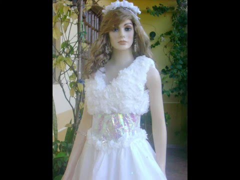 Lidiane Dimbarre Vestido de noiva de sacolas e saia