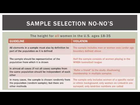 Statistics 101: Population Vs Sample Data video