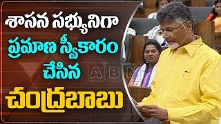 Chandrababu Naidu Takes Oath As AP TDP MLA   AP Assembly Session 2019   ABN Telugu