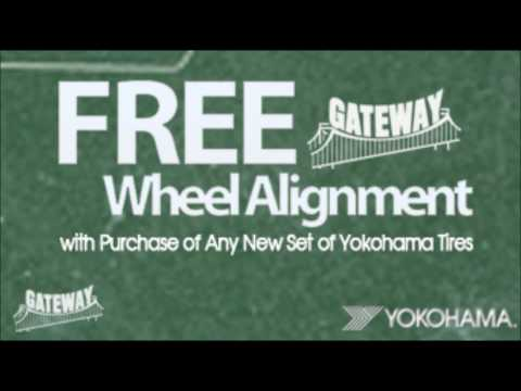 gateway tire - Yokohama free alignment - radio ad