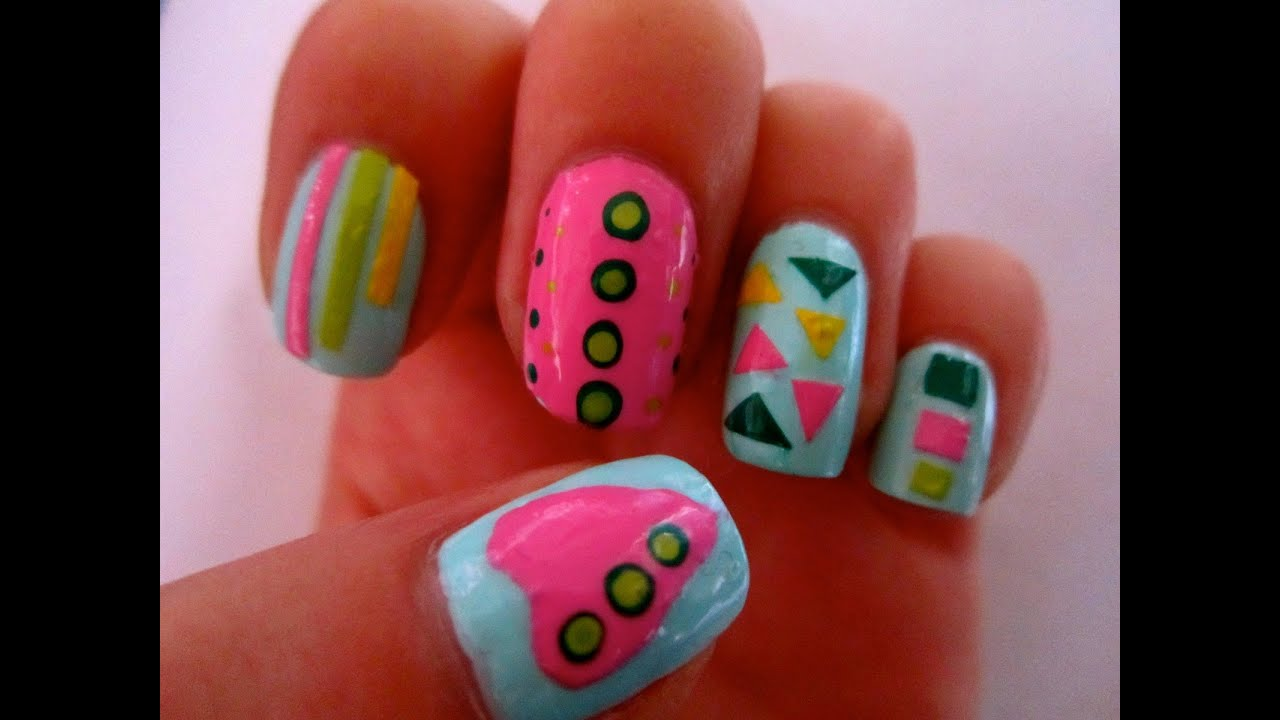 Diy nail art stickers make your own easy nail art designs stickers youtube Nail design ideas to do at home