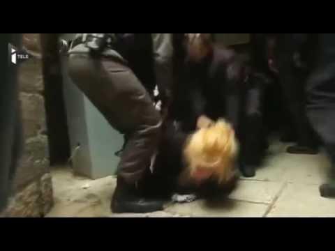 اليكم يا أُمة المِليار , ما يفعله اليهود بالمقدسيات terrorism against Palestinian women in Jerusalem