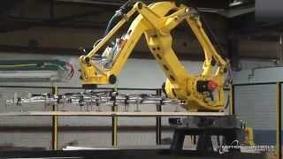 Automated Board Handling System with FANUC Palletizing Robot - MCRI