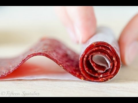 Homemade Strawberry Fruit Rollups Recipe | How to Make Fruit Leather