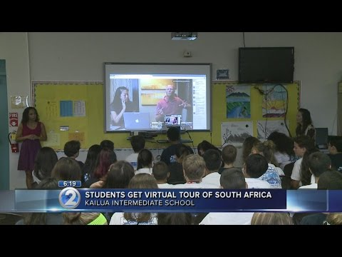 Kailua seventh-graders experience virtual tour of South African caves