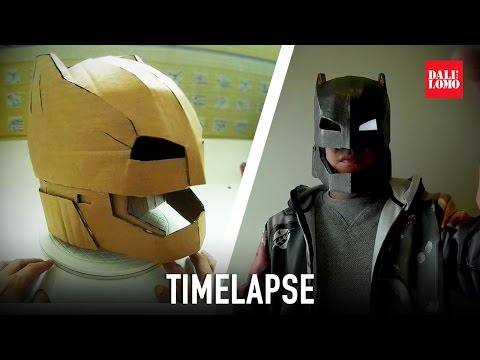 Timelapse - Armored Batman Helmet Cosplay using Cardboard & Papermache