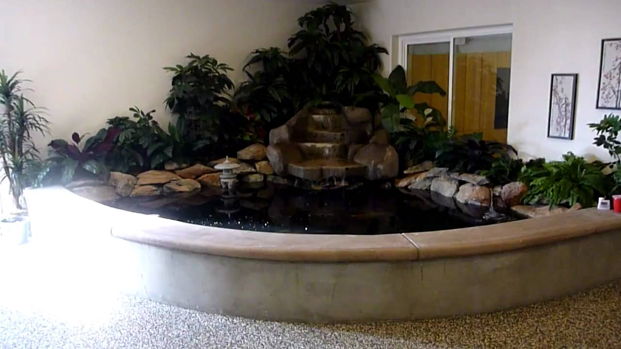 My indoor koi pond youtube for Indoor koi fish pond