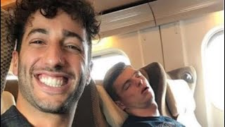 Daniel Ricciardo and  Max Verstappen FUNNY MOMENTS