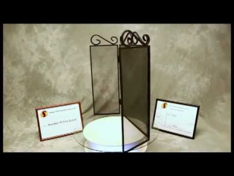 2010 Scroll Top 3 Fold Fire Guard - Black 580 x 810 Video www.thefiresideshop.co.uk