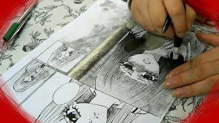 Drawing Manga Page   sketch, ink, screentones