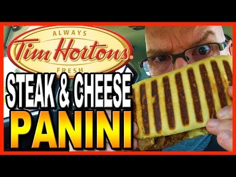 Tim Hortons Grilled Steak & Cheese Panini Review