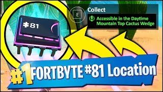 Fortnite FORTBYTE #81 LOCATION - ACCESSIBLE IN THE DAYTIME NEAR A MOUNTAIN TOP CACTUS WEDGE
