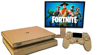 How to Make Sony PS4 Console with Controller from Cardboard