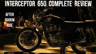 Interceptor 650 Complete Review after 600km Ride