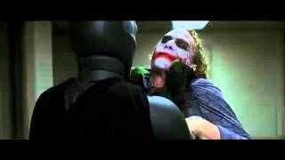 Batman and joker interrogation scene