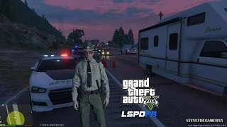 GTA 5 - LSPDFR - EPiSODE 34 - LET'S BE COPS - SHERIFF - SOBRIETY CHECKPOINTS(GTA 5 PC POLICE MODS)