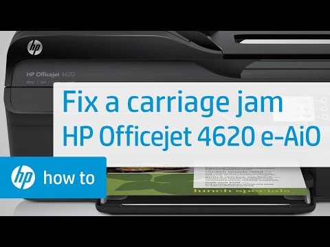 Fixing a Carriage Jam - HP Officejet 4620 e-All-in-One Printer