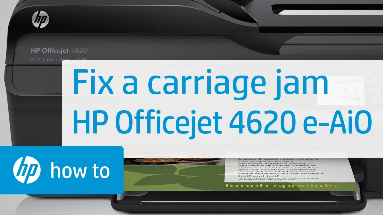 hp printer how to fix paper jam