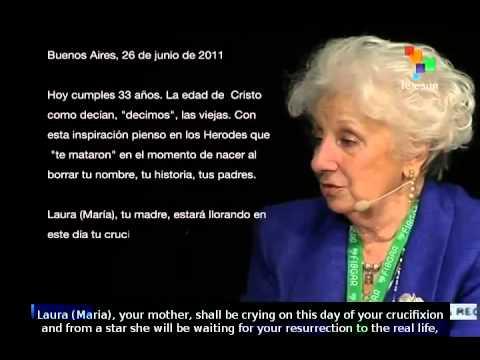 Estela de Carlotto wrote a letter to Guido for his 33th birthday