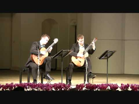 Duo Cologne plays Bach English Suite II, BWV 807 - IV. Sarabande