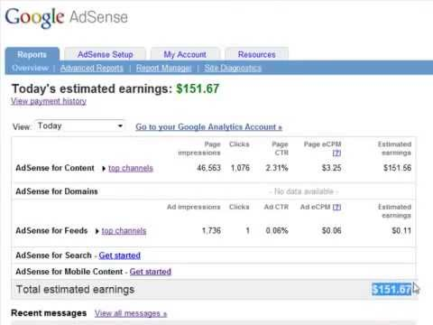 ***Adsense earnings for one day- Start Making Real income Ultimate Adsense Profits***
