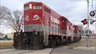RS5T Horn Blasts and 567 EMD Locomotive Power This Is The RJ Corman Railroad Company