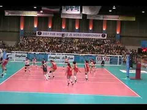 2007 World Junior Women's volleyball championships in Thailand Japan-China Video