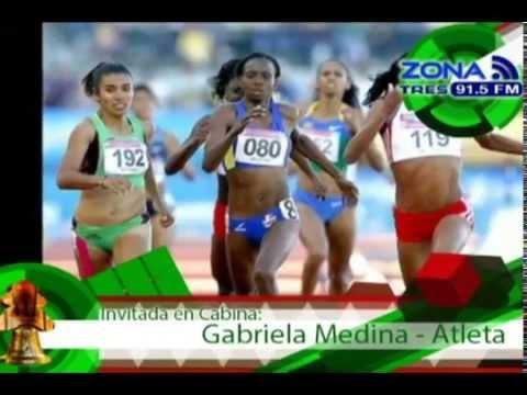 Zona Deportiva Velocista Gabriela Medina Aspiraciones en el Atletismo Mundial 2