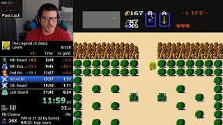 *NEW WORLD RECORD* (31:31) The Legend of Zelda Low% speedrun