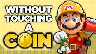 Is it possible to beat the Event Courses from Super Mario Maker without touching a single coin?