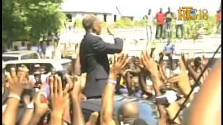 Jean Bertrand ARISTIDE, Maryse Narcisse Voting on Election Day