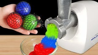 EXPERIMENT: MEAT GRINDER VS ANTI STRESS BALLS