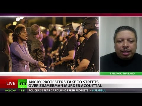 'No justice, no peace!' Angry protests sweep US over Zimmerman verdict