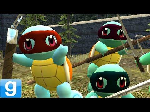 Teenage Mutant Ninja Squirtles! Gmod Tmnt Pokemon Mod (garry's Mod) video