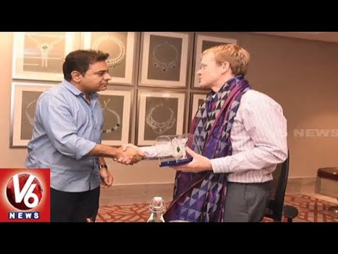 IT Minister KTR Meets WhatsApp CEO Chris Daniels | Hyderabad | V6 News