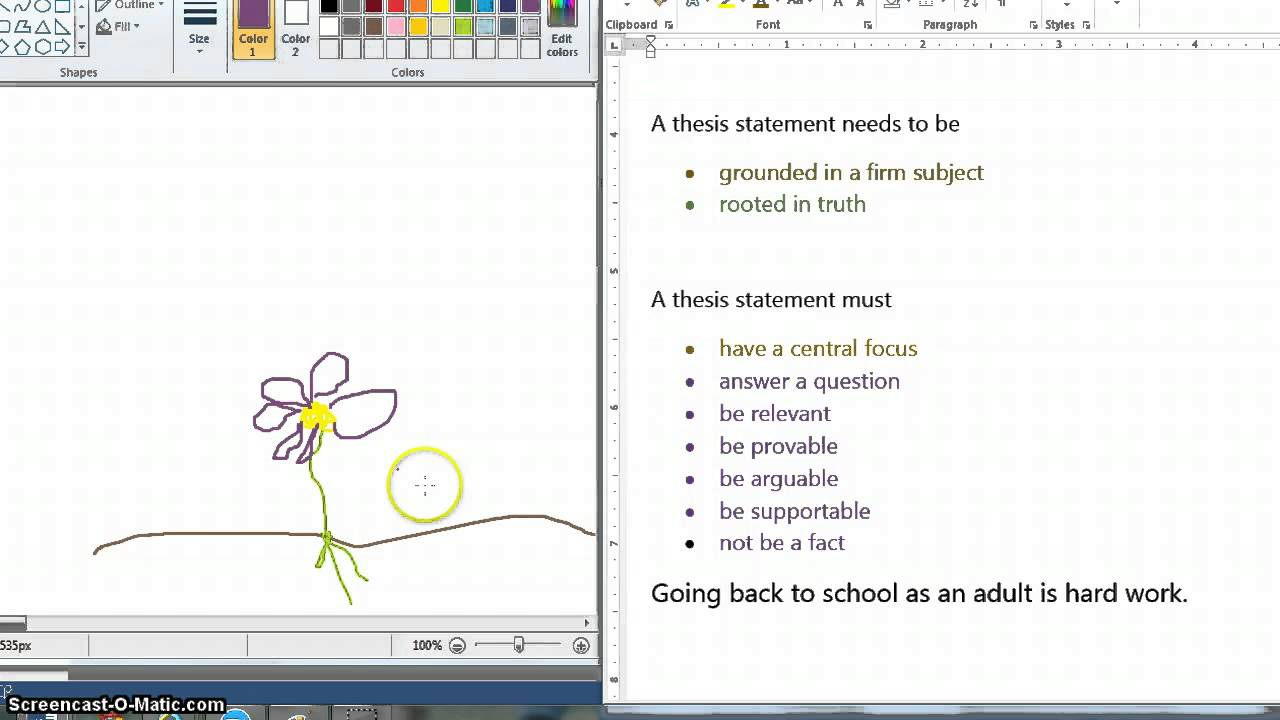 building a thesis statement