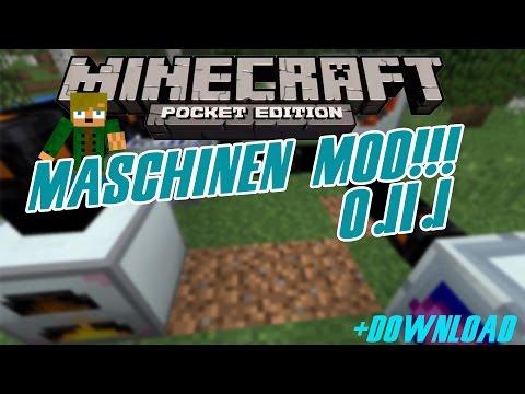 Minecraft PE 0.11.1 Maschinen Mod! [Deutsch/HD+] +Download