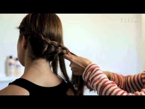 Peinado con recogido trenzado