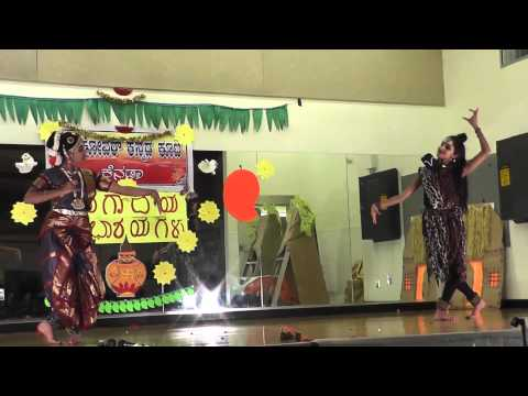 Karpoora Gauram dance by Ramya and Aashrita at UGADI 2014 choreographed...