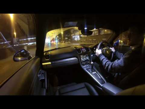 2017 Porsche Cayman S 981 Night Driving