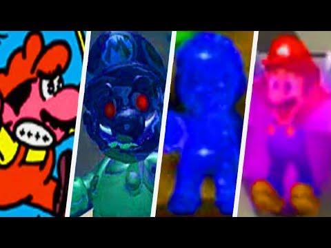 Evolution of Evil Mario in Super Mario Games (1982 - 2017)