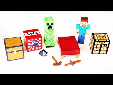 Toy Review / Unboxing Minecraft Survival Pack Action Figure and Creeper