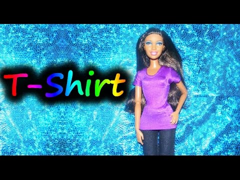 how to make doll clothes t shirt youtube. Black Bedroom Furniture Sets. Home Design Ideas
