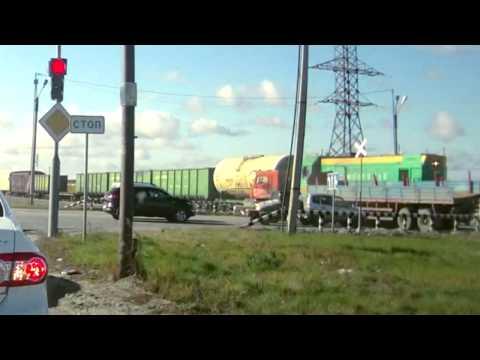 Новый Уренгой - Поезд сбил грузовик.