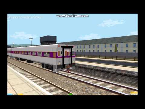 OpenBVE HD EXCLUSIVE: MBTA F40PH 1000 (Screamer) Push Mode Operating On the Ballyfeckin Line