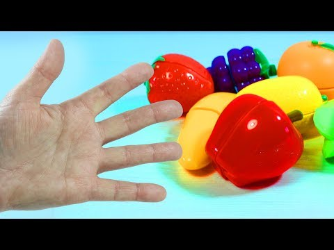 Весёлая развивающая песенка про пальчики Играем и  Учим названия фруктов и ягод