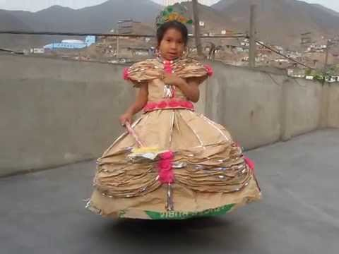 vestido de papel modelo princesa