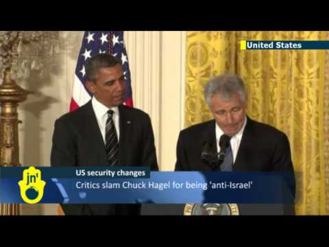 Obama names Chuck Hagel: critics slam Pentagon nominee for 'Jewish lobby' comments